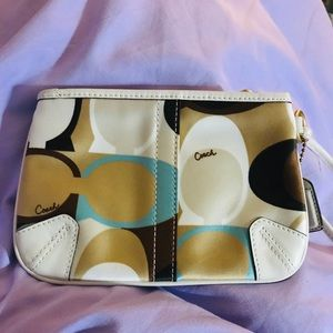Coach Scarf  Print Wristlet Never Used.